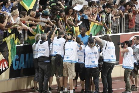 Tour d'honneur pour Usain Bolt